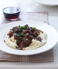 Fast pressure cooker dinner recipe for a weeknight meal: beef and porcini mushroom stew. So cozy!