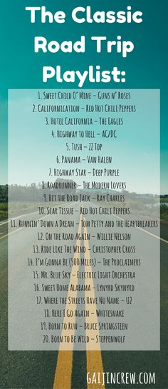 The classic road trip playlist - The Great American Roadtrip Playlist is a mix of some of my favorite songs from the the best of the best. Listen to this playlist as you drive across the country & get some nostalgic feels. Best Road Trip Songs, Road Trip Music, Road Trips, Road Trip Quotes, Roadtrip Playlist, Music Background, The Modern Lovers, Travel Songs, Travel Quotes