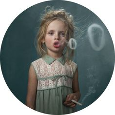 Belgian photographer, Frieke Janssens' 'Smoking Kids' series