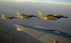 3 of PAF F-16s during air-to-air refueling exercise during Red Flag.