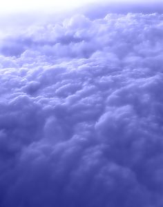 2 of my favorite things: periwinkle blue & being up above the clouds