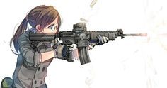 S none of my posts are done by me just a fan of great anime, manga, and videogames I'll happily do requests. Anime Military, Military Girl, Kawaii Chibi, Kawaii Anime, Anime Krieger, Gunslinger Girl, Character Art, Character Design, Dibujos Tumblr A Color
