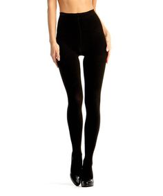 91179bd0d Another great find on  zulily! Black Firmfit Opaque Control-Top Shaper  Tights -