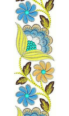 Border Embroidery Designs, Hand Embroidery Stitches, Machine Embroidery Patterns, Lace Embroidery, Lace Beadwork, Embroidery Online, Sewing Leather, Beaded Jewelry Patterns, Lace Design