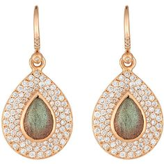 Irene Neuwirth Diamond Collection Women's Gemstone Teardrop Earrings ($15,180) ❤ liked on Polyvore featuring jewelry, earrings, brincos, nakit, no color, pave diamond jewelry, teardrop earrings, 18k earrings, 18 karat gold jewelry and earring jewelry