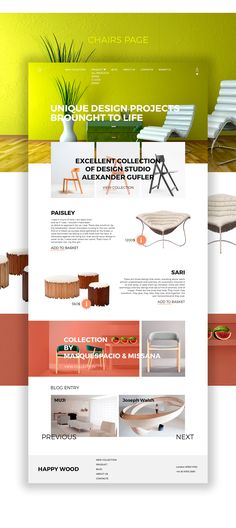 Online Store Interior Goods HAPPY WOOD On Web Design Served