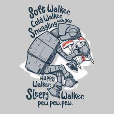 Soft Walker Soft Kitty Star Wars Shirt by RebelArtUnderground