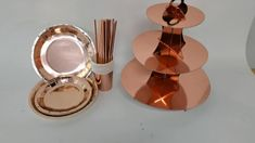 Rose Gold Disposable Tableware Set Plates Cups Napkins Adult Happy Birthday Party Decoration Kids Wedding Birthday Supplies Birthday Supplies, Birthday Ideas, Happy Birthday, Birthday Parties, Rose Gold Party Supplies, Disposable Tableware, Kids Party Decorations, Wedding With Kids, Food Crafts