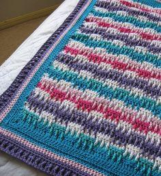 Bright Textures Blanket By Bernat Design Studio - Free Crochet Pattern - (ravelry)