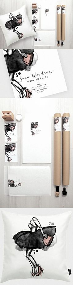 """SMÄM #stationery and packaging design. Love the large sketched logo image"" 