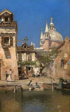 Renaissance Paintings, Renaissance Art, Aesthetic Painting, Aesthetic Art, Classic Paintings, Beautiful Paintings, Venice Painting, Classical Art, Environmental Art