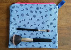 Marine makeup bag by DeeliciousCrafts on Etsy
