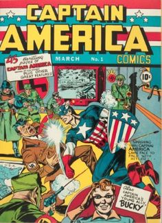 Captain America Comics #1 (March 1941): Origin and First Appearance of Captain America. Record sale: $306,000. Click to have YOURS appraised!