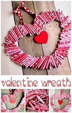 Cute Valentines Day Gifts, Valentine Day Wreaths, Valentines Day Decorations, Homemade Valentines, Valentine Ideas, Valentine Heart, Valentine's Day Crafts For Kids, Valentine Crafts For Kids, Diy Valentine's Day Decorations