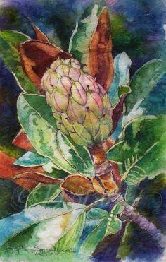 Deborah Boyet - WC Batik  Something so comforting about a Southern Magnolia. - HJ