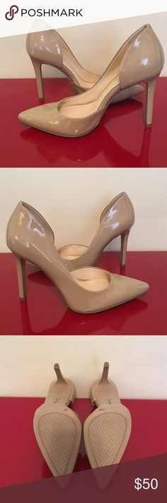 Jessica Simpson Claudette Pointed-Toe d'Orsay Pump Nude Patent Pumps, never worn, no box. Jessica Simpson Shoes Heels