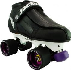 The Jackson Elite Avenger Zombie Roller Derby Speed Skate features Full grain leather upper, Black leather stitched outsole, Full grain leather lace cover, Abrasion resistant toe cap, Microfiber lining and Padded covered tongue. The Sure Grip Avenger Roller Derby Skates, Quad Skates, Speed Skates, Indoor Roller Skating, Leather And Lace, Black Leather, Skates For Sale, Skate Store, Baby Car Seats