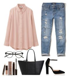 """""""Untitled #116"""" by maniakozlowska on Polyvore featuring Gianvito Rossi, Hollister Co., Uniqlo, Zara and Laura Mercier"""
