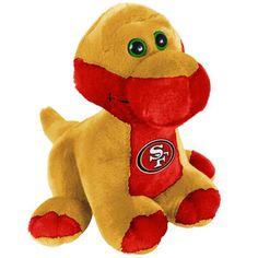 "San Francisco 49ers 8"" Plush Brontosaurus"