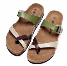 Aliexpress.com  Comprar 2016 Nuevos Hombres de Moda Sandalias De Corcho  Color Mezclado de e6a9a0a57139