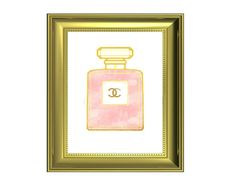 Coco Chanel Quote  Perfume Bottle Art  Chanel Logo  by SassyPlanet