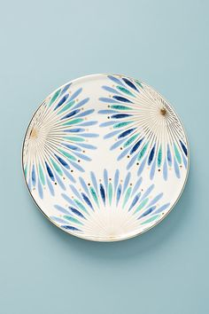 Whitney Side Plates, Set of 4 By Anthropologie in Blue Size S/4 side p