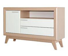 Mueble para TV en madera - natural y blanco