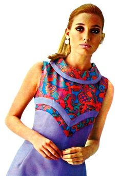 60s fashion mod retro colorblock dress psychedelic