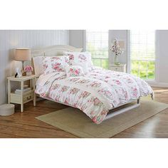 Better Homes And Gardens Floral Ruching Bedding Comforter Set