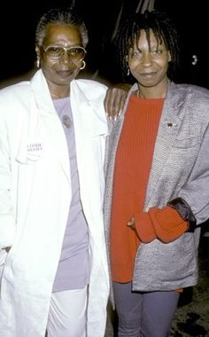 Whoopi Goldberg and her mom