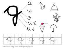 Recursos para Educación de Adultos: Caligrafía letra G