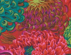 1/2 yard PWPJ147 Japanese Chrysanthemum in Scarlet Red Collection by Phillip Jacobs for Westminster Fabric/ Free Spirit  Fabric is great for Apparel, quilting, home decor and crafting of all kinds  You will receive 1/2 yard of beautiful quilt shop quality fabric  100% Premium cotton fabric, Measures 18 inches by 44 inches Machine wash , tumble. Dry cool  New Cut Straight from the bolt Beautiful quilt shop quality !!!!!!!!GLADLY COMBINE SHIPPING ON ALL ITEMS