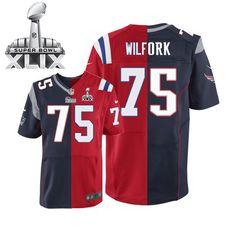 NFL New England Patriots Vince Wilfork Mens Elite Team Alternate #75 Super Bowl XLIX Jersey