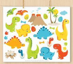 Dinosaur Clipart Boy Dinosaurs T-Rex dino eggs Volcano Clipart Boy, Vector Clipart, The Good Dinosaur, Cute Dinosaur, Kids Wall Decals, Nursery Wall Decals, Nursery Decor, Le Voyage D'arlo, Baby Dino