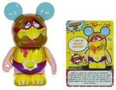 "Zooper Chicken - Disney Vinylmation ~3"" Zooper Heroes Series Designer Figure"