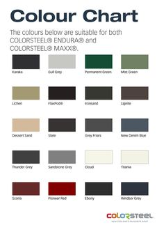 Coloursteel roof colours - New Denim / Windsor?