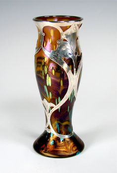 Loetz   Cytisus Silver Overlay Vase 1905.