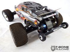 T-BONE RACING BMG2 REAR BUMPER / MOTOR GUARD W / WHEELIE BAR -- TRAXXAS RUSTLER VXL