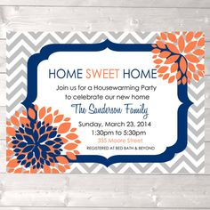 Housewarming party invitation home sweet home new by designandplay, $15.00