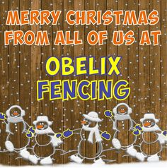 Merry Christmas from all of us at Obelix Fencing Credits: Creative Ads Gate Motors, Merry Christmas, Xmas, Social Media Design, Fencing, Happy Holidays, Creative, Merry Little Christmas, Fences