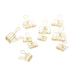Those silver paper clips have got to go. Replace them with these gorgeous gold clips from hay. The two sizes are perfect for large stacks of paper or for hangin