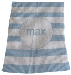 Striped Personalized Stroller Blanket or Baby Blanket