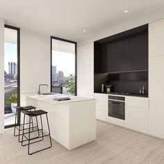 // A CLASSIC little number by ;) LOVE those floors sleek joinery :) Team DS. X by designstuff_group House, Kitchen Decor, Contemporary Kitchen, Simple Kitchen Design, Australian Interior Design, Home Kitchens, Modern Kitchen Design, Minimalist Kitchen, Home Interior Design