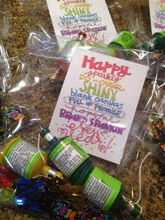 New Year's Eve Gift Bags and New Year's Eve Resolution Printables