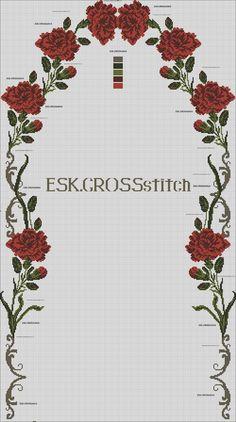 Cross Stitch Rose, Cross Stitch Flowers, Cross Stitch Patterns, Prayer Rug, Bargello, Crochet, Needlework, Diy And Crafts, Prayers