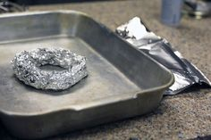 Hack a turkey roasting rack with this hack: a coil of foil.