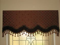 custom cornice board with nailheads