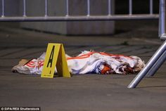 The remains of one of the suicide bombers who blew himself up outside the Stade de France on Friday night