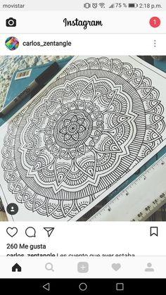Mandala Doodle, Mandala Art Lesson, Mandala Artwork, Henna Drawings, Oil Pastel Drawings, Doodle Art Drawing, Mandala Drawing, Mandala Origami, Dibujos Zentangle Art
