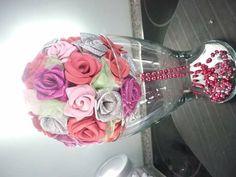 Bouquet com rosas em eva